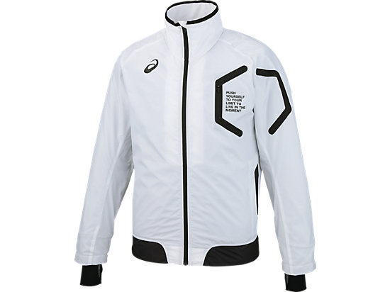 LIMO 裏トリコットブレーカージャケット, WHITE/WHITE