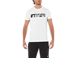 ESNT DIAGONAL SS TOP, BRILLIANT WHITE/PERFORMANCE BLACK