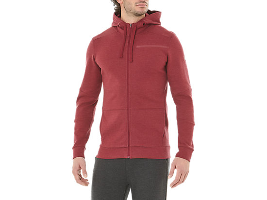 TAILORED FZ HOODY, CORDOVAN HEATHER