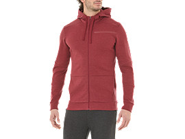Alternative image view of TAILORED FZ HOODY, CORDOVAN HEATHER