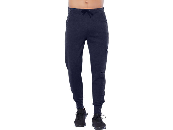 Front Top view of TAILORED PANT, PEACOAT HEATHER