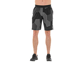 GPX WOVEN SHORT, GEO HEX PERFORMANCE BLACK