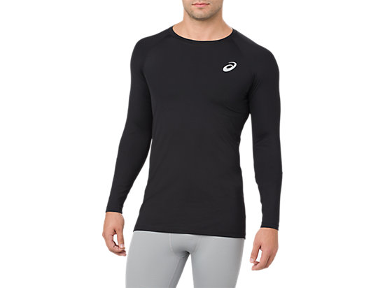 ASICS BASE LAYER LS TOP, PERFORMANCE BLACK