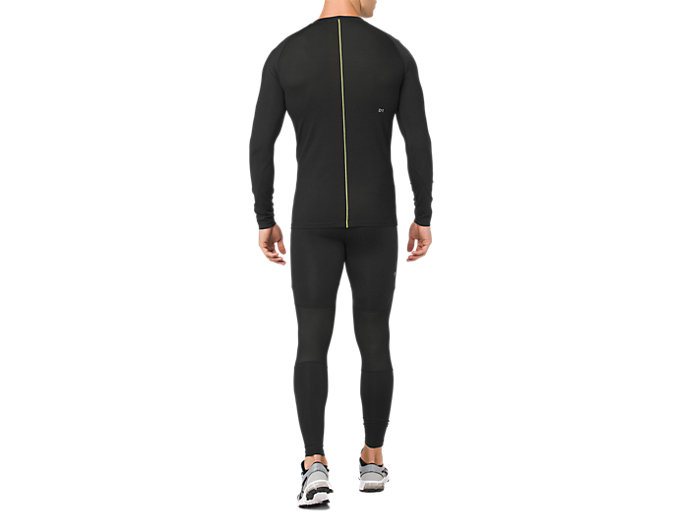 Back view of ASICS BASE LAYER LS TOP, PERFORMANCE BLACK