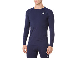 ASICS BASE LAYER LS TOP, PEACOAT