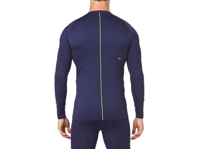 Back view of ASICS BASE LAYER LS TOP, PEACOAT