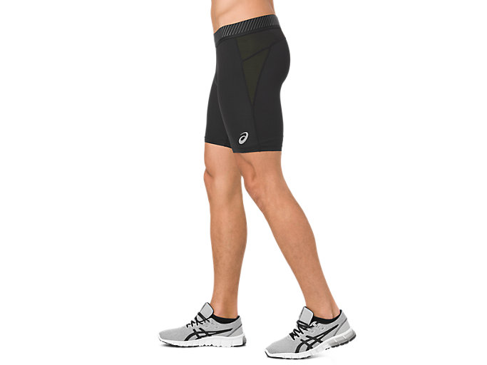 Side view of ASICS BASE LAYER SPRINTER 7IN, PERFORMANCE BLACK