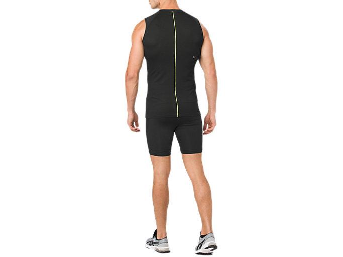 Back view of ASICS BASE LAYER SPRINTER 7IN, PERFORMANCE BLACK
