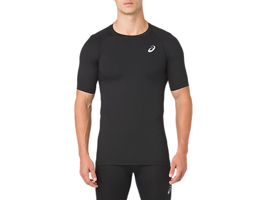 ASICS BASE LAYER SS TOP, PERFORMANCE BLACK