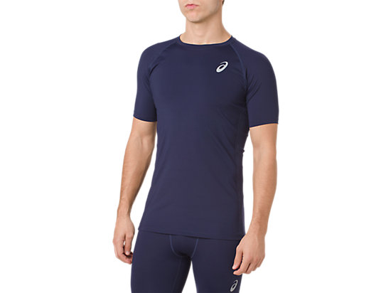 ASICS BASE LAYER SS TOP, PEACOAT