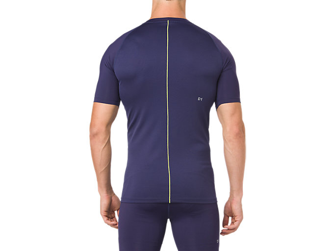 Back view of ASICS BASE LAYER SS TOP, PEACOAT