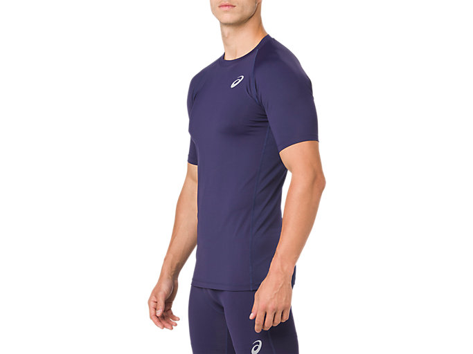 Side view of ASICS BASE LAYER SS TOP, PEACOAT