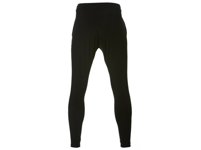 Back view of FITTED KNIT PANT, PERFORMANCE BLACK x BRILLIANT WHITE