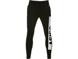 FITTED KNIT PANT, PERFORMANCE BLACK x BRILLIANT WHITE