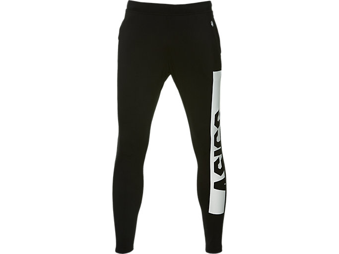 Front Top view of FITTED KNIT PANT, PERFORMANCE BLACK x BRILLIANT WHITE