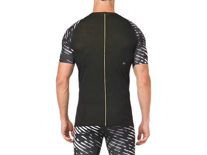 Back view of ASICS BASE LAYER G SS TOP, PERFORMANCE BLACK