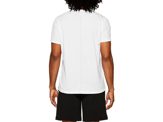 Back view of ESSENTIAL COTTON BLEND GPX SS TOP, BRILLIANT WHITE
