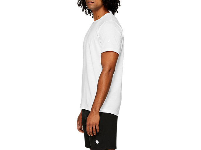 Side view of ESSENTIAL COTTON BLEND GPX SS TOP, BRILLIANT WHITE