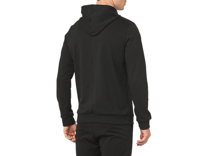 Back view of ESSENTIAL FRENCH TERRY GPX PO HOODIE, PERFORMANCE BLACK