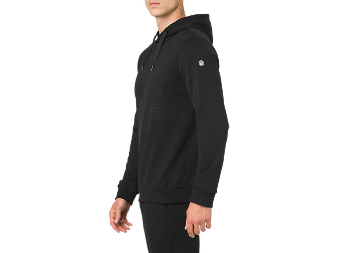 Side view of ESSENTIAL FRENCH TERRY GPX PO HOODIE, PERFORMANCE BLACK