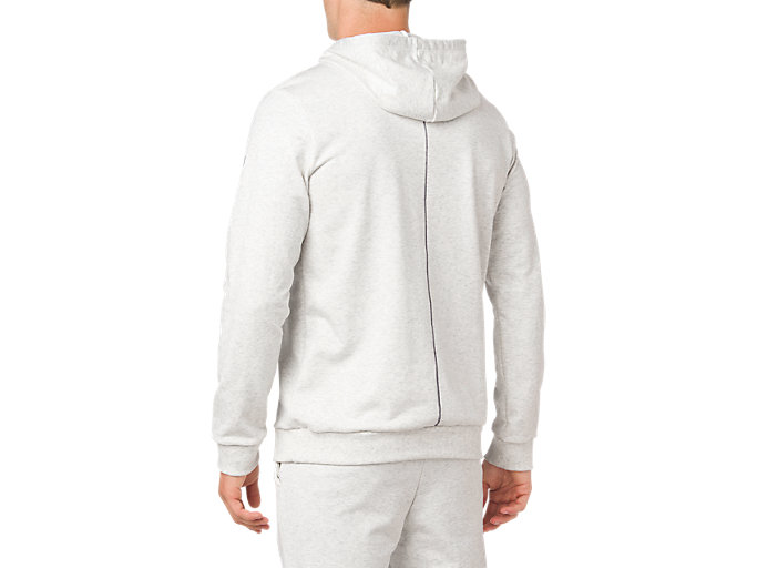 Back view of ESSENTIAL FRENCH TERRY GPX PO HOODIE, BRILLIANT WHITE HEATHER