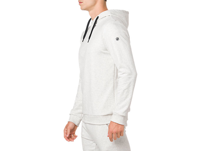 Side view of ESSENTIAL FRENCH TERRY GPX PO HOODIE, BRILLIANT WHITE HEATHER