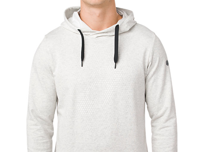 Alternative image view of ESSENTIAL FRENCH TERRY GPX PO HOODIE, BRILLIANT WHITE HEATHER