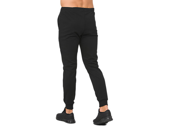 Back view of ESSENTIAL FRENCH TERRY PANT, PERFORMANCE BLACK