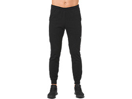 Front Top view of ESSENTIAL FRENCH TERRY PANT, PERFORMANCE BLACK