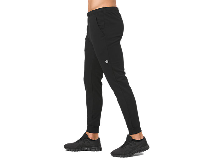 Side view of ESSENTIAL FRENCH TERRY PANT, PERFORMANCE BLACK