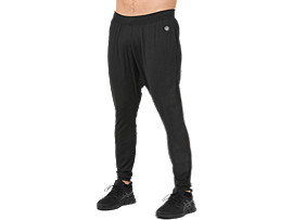 Front Top view of FITTED KNIT PANT, PERFORMANCE BLACK