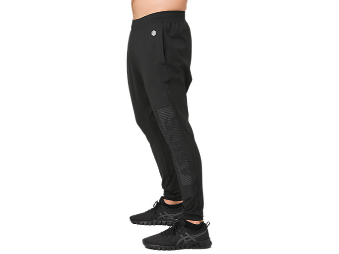 Side view of SD FITTED KNIT PANT, PERFORMANCE BLACK