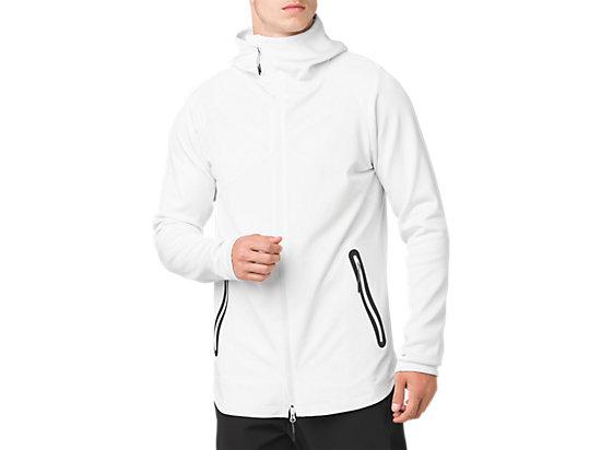 ウーブンハイブリッドフルジップジャケット, ブリリアントホワイト