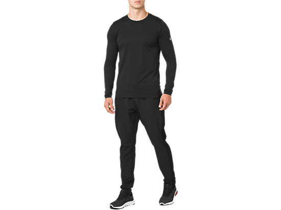 跑步長袖上衣 PERFORMANCE BLACK HEATHER