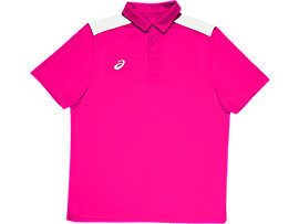 Front Top view of Solid Blocked Polo