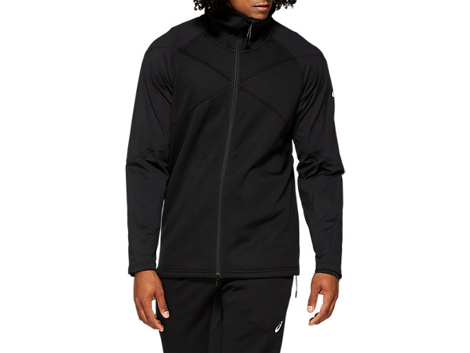 Front Top view of M FLC GEL-HEAT JKT, PERFORMANCE BLACK