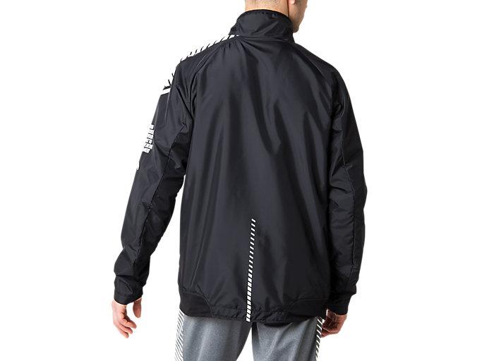 Back view of LIMO®裏トリコットブレーカージャケット, パフォーマンスブラック