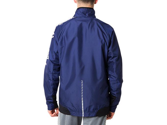 Back view of LIMO®裏トリコットブレーカージャケット, ピーコート