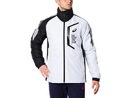 Front Top view of LIMO®ウオーマージャケット, ブリリアントホワイト×パフォーマンスブラック