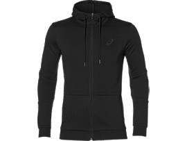 Front Top view of TAILORED FZ HOODY, PERFORMANCE BLACK