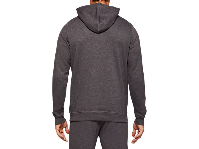 Back view of SPORT KNIT HOOD, DARK GREY HEATHER