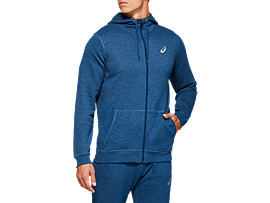 Front Top view of SPORT KNIT HOOD, MAKO BLUE HEATHER