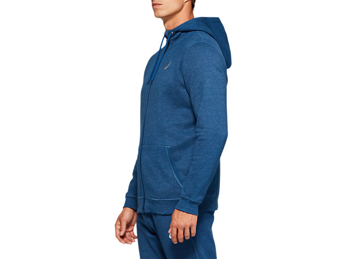 Side view of SPORT KNIT HOOD, MAKO BLUE HEATHER