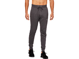 Front Top view of SPORT KNIT PANT, DARK GREY HEATHER