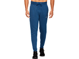 Front Top view of SPORT KNIT PANT, MAKO BLUE HEATHER
