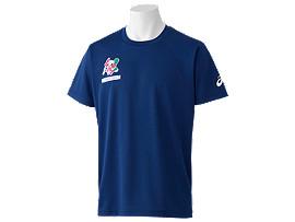 Front Top view of Tシャツ(東京2020パラリンピックマスコット), EMネイビー