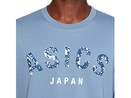 Alternative image view of ASICS JAPAN TEE, STEEL BLUE/MAKO BLUE