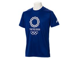 Front Top view of Tシャツ(東京2020オリンピックエンブレム), EMネイビー