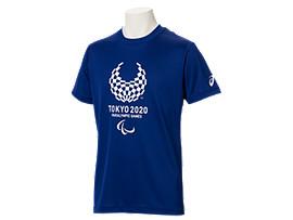 Front Top view of Tシャツ(東京2020パラリンピックエンブレム), EMネイビー