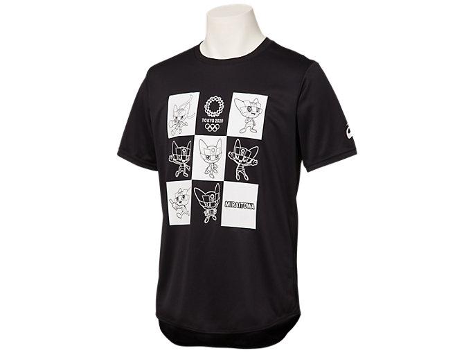 Tシャツ(東京2020オリンピックマスコット), ブラック